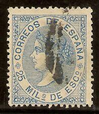 Edifil 97 (º)  Isabel II  25 m. Azul  1868   NL1039