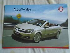 Vauxhall Astra TwinTop range brochure 2008 models Ed 2