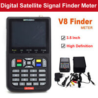 "V8 Finder 3,5 ""Satellitensignal Finder HD 1080P DVB-S / S2 Detektor Kit"