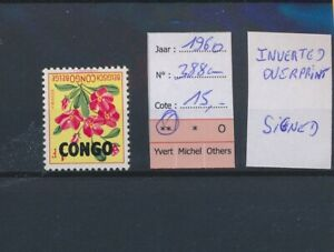 LO38997 Congo 1960 flowers inverted overprint fine lot MNH cv 15 EUR