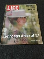 LIFE MAGAZINE AUGUST 20, 1971 ROVING THE MOON PRINCESS ANNE AT 21 GOOD CONDITION