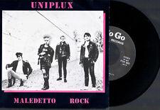 "UNIPLUX MALEDETTO ROCK + SALLY 1984 PO GO RECORDS 7"" 45 GIRI ITALIAN PUNK BAND"