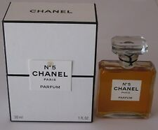 Vintage Perfume Bottle Chanel No 5 Bottle/Boxes 1 OZ Post 1986 Open 3/4+ Full