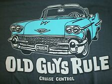 "Old Guys Rule "" Cruise Control "" Cadillac Low Rider Beach Pocket-T Size L"
