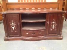 Chinese mahogany shell carving TV Cabinet