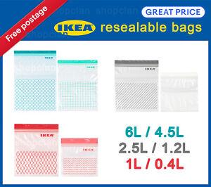 IKEA ISTAD Resealable Bags Plastic Zip lock Resealable Food Sandwich Freezer
