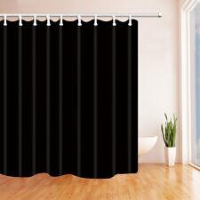"71"" Shower Curtain with 12 pcs Hooks Waterproof Mildewproof Bath Curtain black"