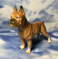 HTF Vintage Ucagco Porcelain Standing Boxer Dog Figurine Occupied Japan EUC