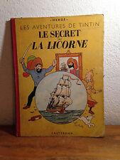 Ancien TINTIN Dos Toilé   Le Secret de la Licorne  B3 - 1949