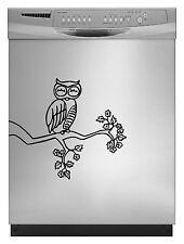 Owl Cute Decal Sticker for Dishwasher Refrigerator Washing Machine Stove Dorm
