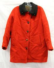 No Name Vintage Wool Gabardine ? Coat Peacoat Womens Mens Red Size Medium?
