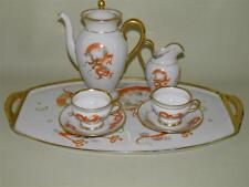 ANTIQUE BAVARIA PORCELAIN DRAGON TEA COFFEE SET