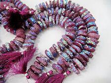"Beautiful Purple Solar Quartz Disc Beads, Size 15-20mm 8"" Strand , FREE SHIPPING"