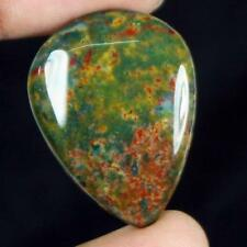 30ct Natural Best Grade Blood Stone Pear Cabochon from Africa GU34