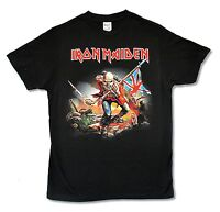 Iron Maiden The Trooper Ed Image Mens Black T Shirt New Official Band Music