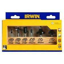 IRWIN Router Bit Set - Carbide Tipped- 6 Piece