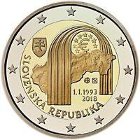 2 Euro monete commemorative 2018