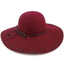 Chapeaux à large bord noir pour femme