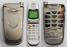Motorola V51 silver front flip cover housing display lcd ORIGINALE INTROVABILE!