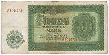 RARE TYPE GERMANY DEMOCRATIC DDR 50 DEUTSCHE MARK PICK # 14A BERLIN AIRLIFT 1948