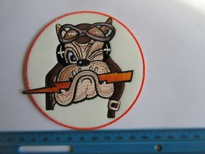 US Army Patch Flying Bulldog 61st SF USAAF 56FG Wolfpack Squadron WK2 WWII
