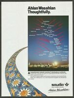 SAUDIA Saudi Arabian Airlines - Ahlan Wasahlan - 1990 Print Ad