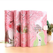 Pink Diary Notebook Lined Paper Pocket Planner Hard Cover Journal Writing Book