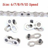 10Pcs Bike Bicycle Chain For 6/7/8/9/10 Speed Quick Master Link Joint Connector
