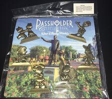 Disney Pin Pass holder Passholder 7 Pcs Booster Pack Wdw Dumbo Gold Statues