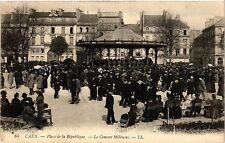 CPA Caen-Place de la Republique, Le Concert Militaire (422457)