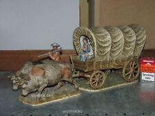 Goebel Porzellan Figur Skrobek Planwagen und Kühe, Einzelstück LA12 A + B