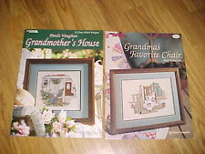 Leisure Arts Paula Vaughan Grandmother's House Counted Cross Stitch Book + Chair