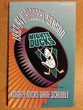 1993-94 ANAHEIM MIGHTY DUCKS INAUGURAL SEASON 1st NHL POCKET SCHEDULE