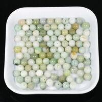 8mm Round 10 Pieces Light Green Loose Beads 100% Untreated Type A Jadeite Jade