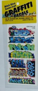 Blair Line 2261 Mega Set 12 Graffiti Decals Spur H0 1:87 Laser cut Decal