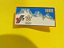 New listing Ctv 1988 Calgary Winter Olympics Gold Tone & Enamel Pin