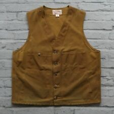 Filson Tin Cloth Vest Size 44 Made in USA Wax Limited Edition