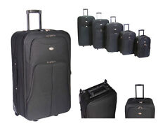 Expandable Synthetic Upright (2) Wheels Suitcases