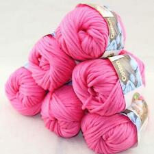SALE Special Thick Chunky 100% Cotton Shawl Scarf Hand Knit Yarn 6 BallsX50gr 06