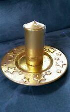 Weihnachts dekoration Gold Teller Keramik Sterne mit Kerze