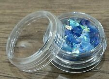 ICE MYLAR 2G NAIL ART CRACKED GLITTER FOR ACRYLIC AND GEL - Blue