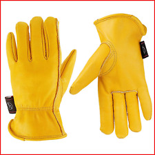 KIM YUAN Leather Work Gloves for Gardening/Cutting/Construction/Motorcycle/Farm,