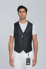 GIORGIO ARMANI Black Label Vest Wool Cashmere Blue Midnight 46 US / 56 EU