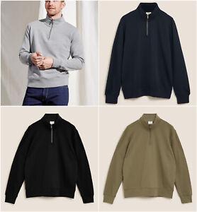Mens M&S Half Zip Sweatshirt Sizes S - 3XL