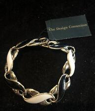 Black Enamel Bracelet Sku117809P Nwt Design Connection Cream &