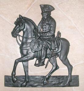 Gussbild General Soldat auf Pferd Metallbild Wandbild Wandrelief Gusseisen