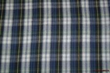 """Blue/Green/White/Yellow Plaid Shirting Flannel Fabric 62""""W BTY"""
