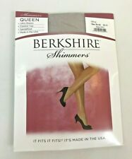 Pantyhose 5X 6X Queen Ultra Sheer Silver Shimmer Plus Berkshire Control Top USA