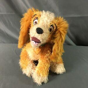"Disney Store Lady and the Tramp, Lady Dog Plush 10"" Stuffed Toy Fuzzy"