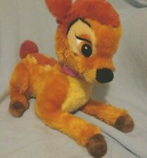 SUPER SOFT PLUSH BAMBI Deer W/PINK COLLAR DISNEY STORE EXCLUSIVE